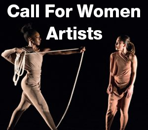 Call for Women Artists - African-American dancers stretches rope towards Asian-American dancer